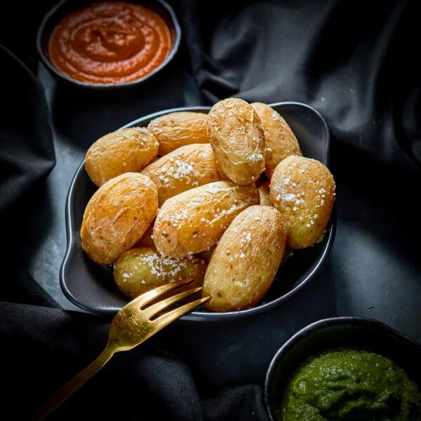 Salt Baked Canarian Style Potatoes