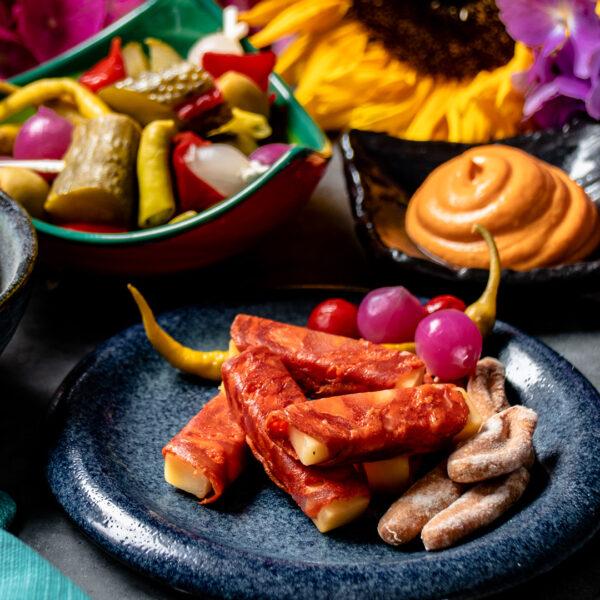 Chorizo & Mature Cheese Rollitos