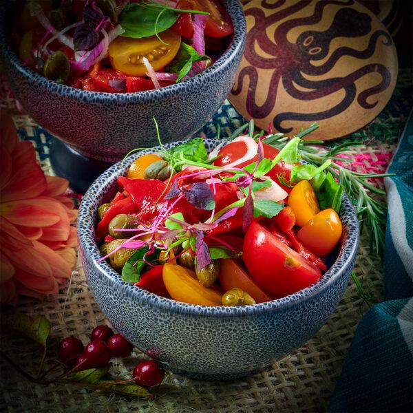 Murcian Tomato, Piquillo Pepper & Caper Salad