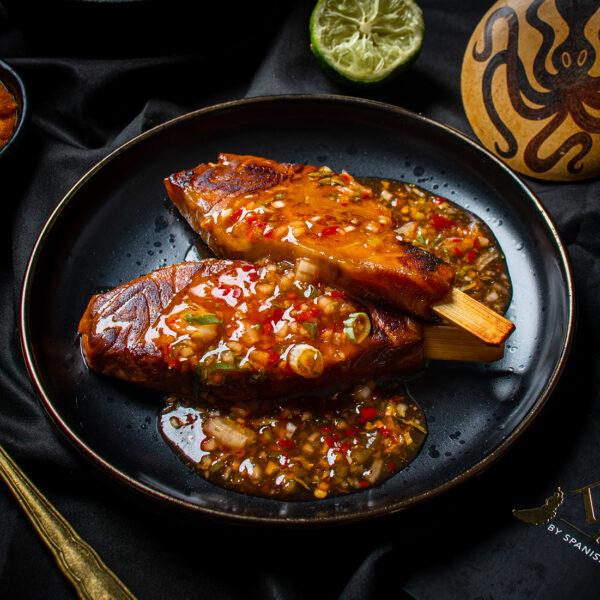 Salmon Cutlets Chilli Jam Tapas
