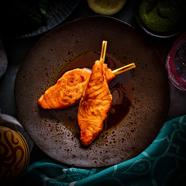 Seared Salmon Cutlets in Chilli Jam & Soy Sauce (2 Cutlets)