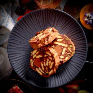 Chocolate Praline & Pistachio Salami