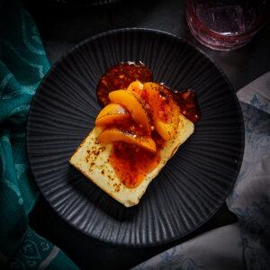 Wood baked Feta Cheese & Peaches