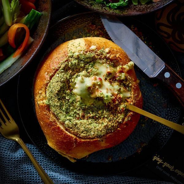 Baked Camembert in Artisan Sourdough